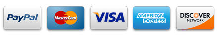 We Accept PayPal and all Major Credit Cards